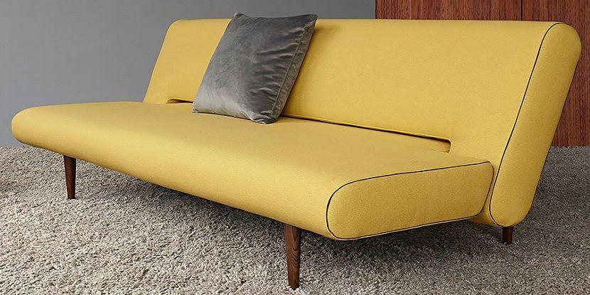Yellow Leather Sleeper Sofa