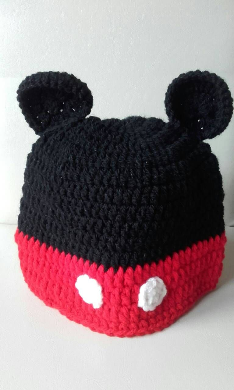 Mickey Mouse Hat Crochet Mouse Hat Baby Boy Mouse Hat Mickey