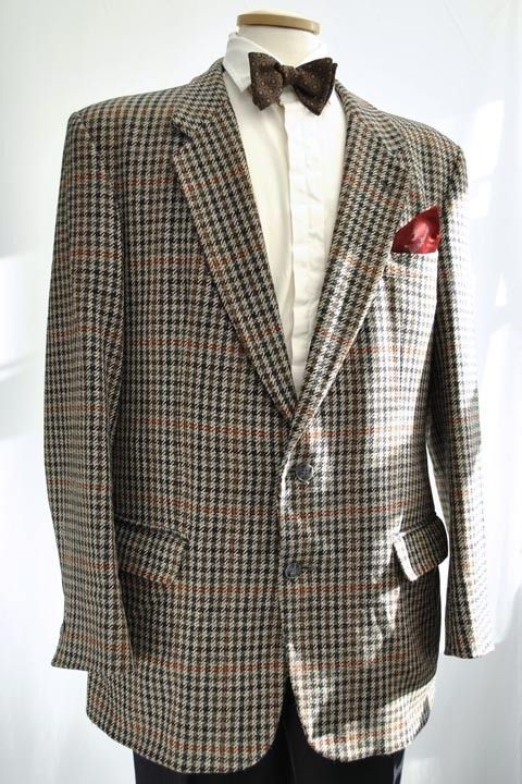 Men S Vintage Austin Reed Grey Houndstooth Tweed Jacket 44r Tweed Jacket Men Tweed Jacket Classic Outfits