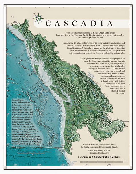 McCloskey s map of Cascadia Cascadia Spring in 2018