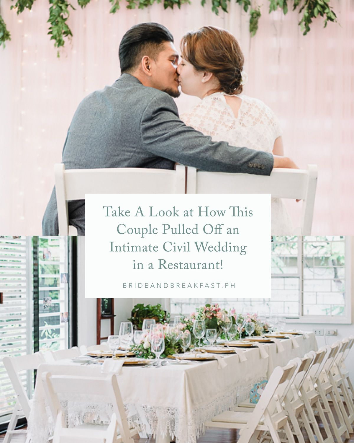 Civil Wedding Ideas: Take A Look At How This Couple Pulled Off An Intimate