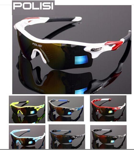 2b67ad87092 POLISI Polarized Cycling Glasses Bike Driving Fishing Sunglasses Goggles 4  Lens