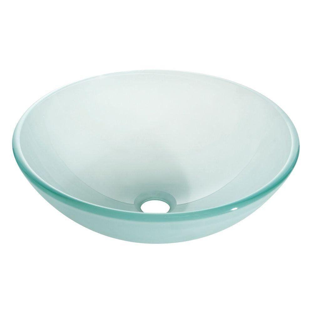 Avanity 16 5 Round Glass Vessel Sink Gve420fr Showroom Sinks