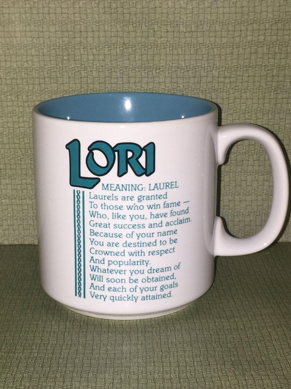 Lori Coffee Cup Lori Meaning Laurel Coffee Cup Mug Coffee Cup Coffee Mug Name Coffee Mug By Pamsplunder On Etsy Coffee Cups Mugs Handmade Home Decor
