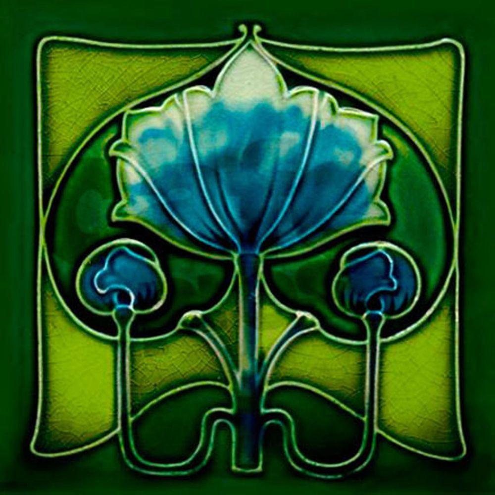 Details about Art Nouveau Arts & Crafts Ceramic Tiles ...