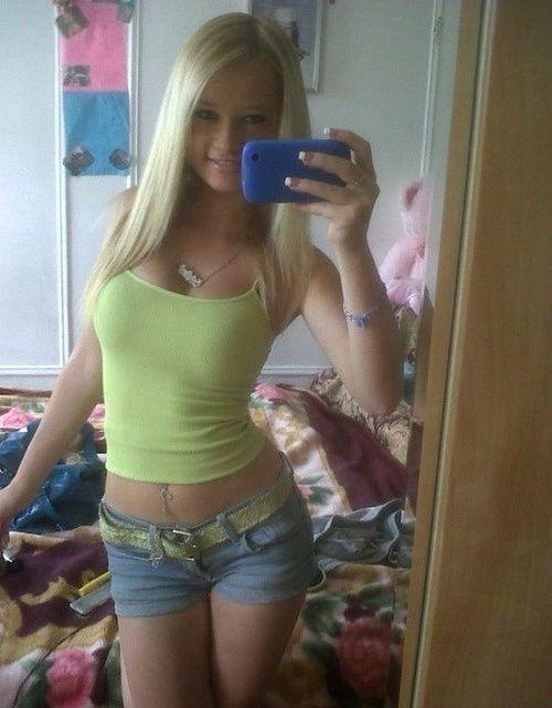 Consider, blonde teen girl mirror