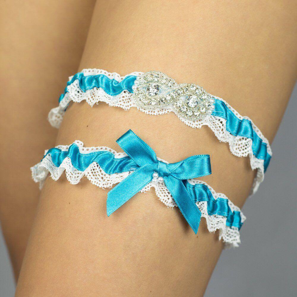 Bridal Garter Keepsake Garter Toss Garter Something Blue Garter Rhinestone Garter Wedding Gift Blue Wedding Garter Wedding Garter Set