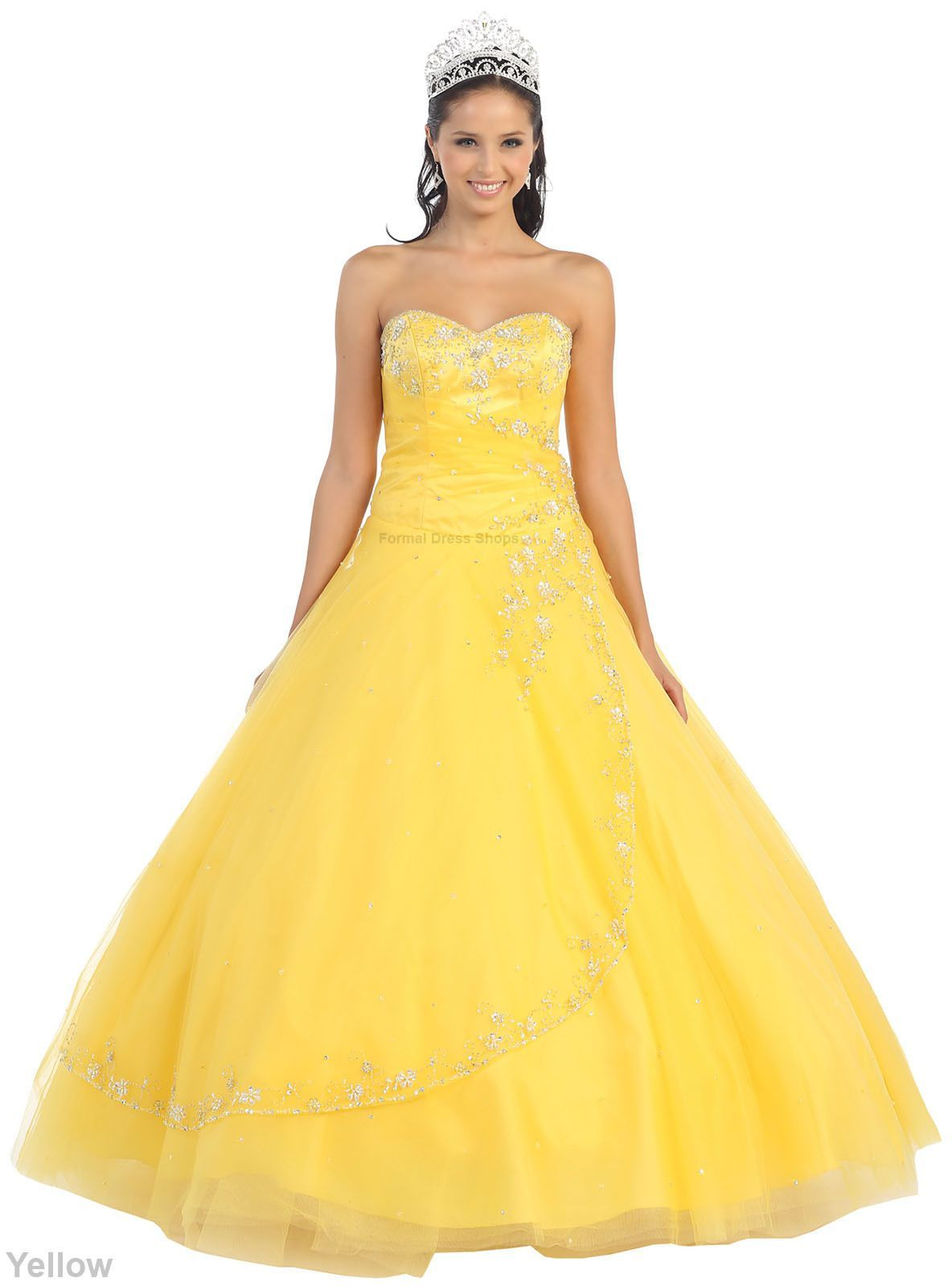 Yellow Ball Gown Dresses