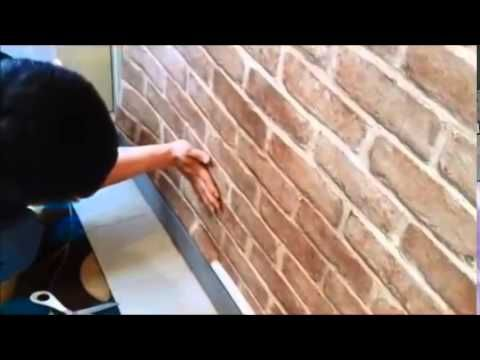 How To Install Self Adhesive Pvc Wallpaper Sticker Brick Design Wallpaper Stickers Brick Design How To Install Wallpaper