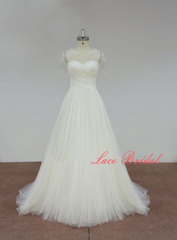 Spitze, Custom, Brautkleid, Hochzeitskleid, Classic Lace Bridal Gown ...