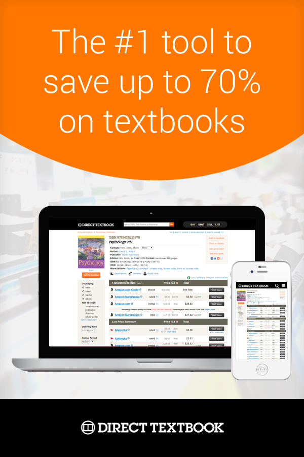 Search trusted online textbook stores, find the lowest