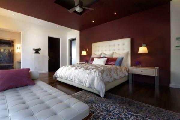 elegant decoration ideas for maroon bedroom | interior design