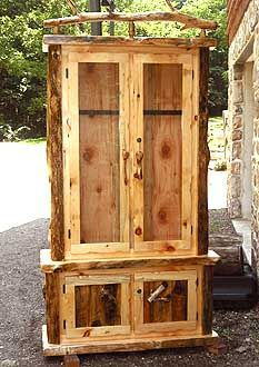 Gun Cabinet.Or Fit It With Shelves And Have A Rustic Display Cabinet.