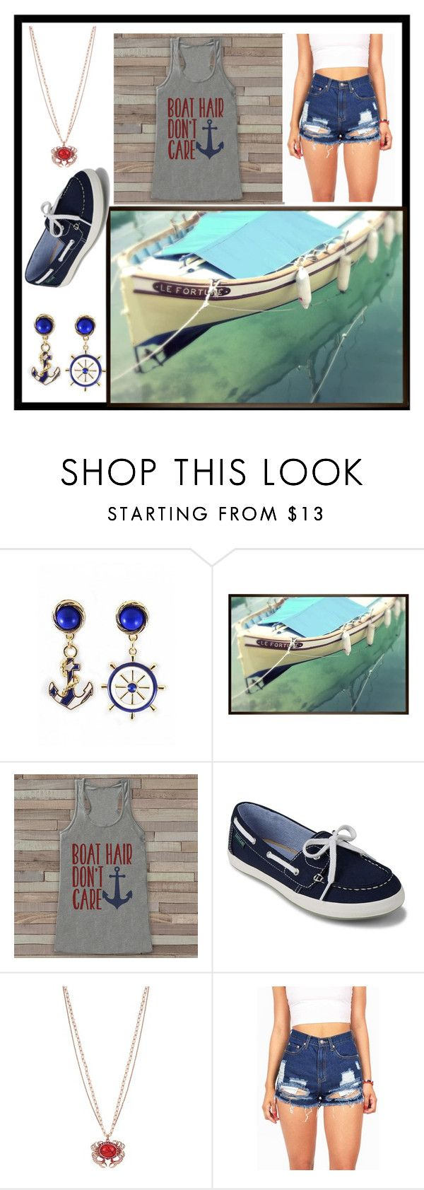 """""""Day on a Boat⛵️"""" by g7r2a9ce ❤ liked on Polyvore featuring Pottery Barn, Eastland and Betsey Johnson"""