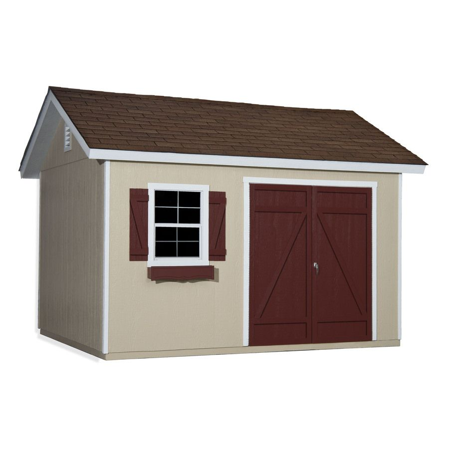 Heartland Common 10 Ft X 12 Ft Interior Dimensions 10 Ft X 12 Ft Mansfield Gable Engineered Storage Shed Installation Not Included Lowes Com Wood Storage Sheds Storage Shed Shed