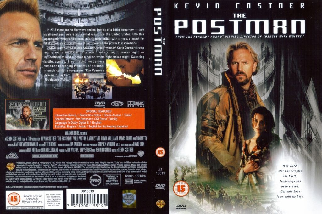 The Postman, Movie, A drifter with no name finds a jeep with