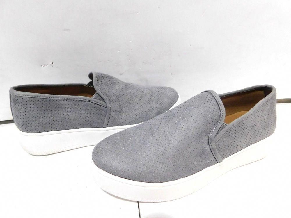 dc22a946da3b (S-1455) Women Steve Madden Giovana Slip-On In Grey size 8.5  fashion   clothing  shoes  accessories  womensshoes  flats (ebay link)   WomensshoesSize6.5Wide