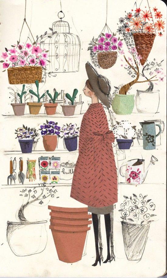 Emma Block's illustration process