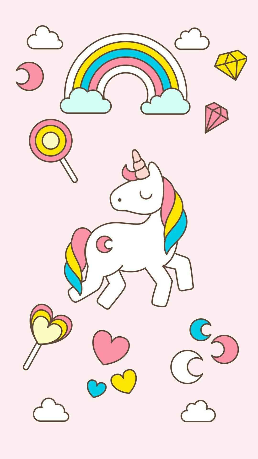 Unicorn Pics Desktop Wallpapers Wallpaper Backgrounds Tattoos Kawaii Cellphone Rainbows Cartoon Drawings Por Favor