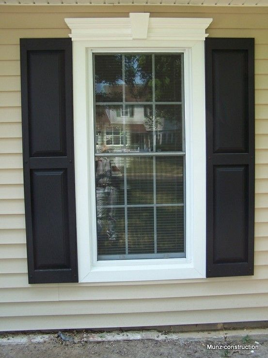 Great window trim and shutters to dress up the front of - Decorative trim above exterior windows ...