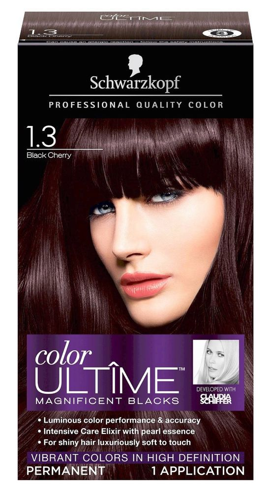7fc5197c1dab6c Schwarzkopf Color Ultime Hair Color 1.3 Black Cherry #Schwarzkopf ...