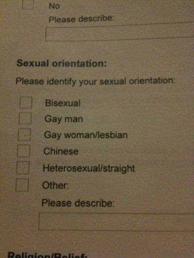 Sexual Orientation: Chinese!