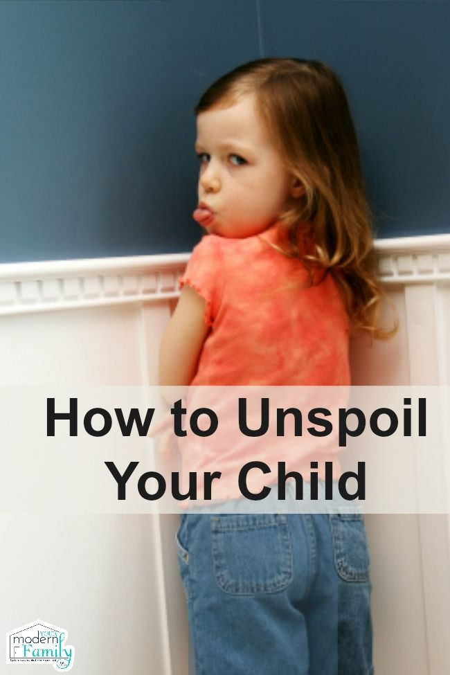 unspoiled your child
