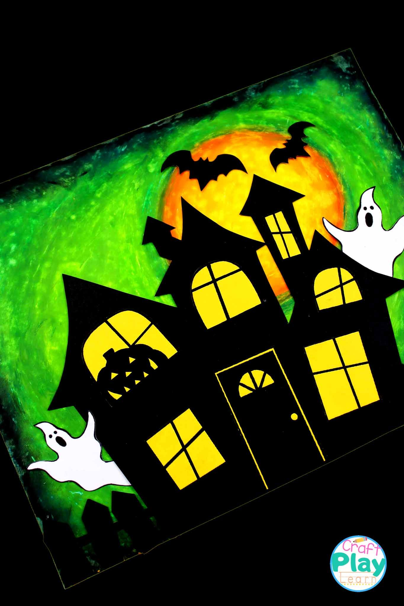 Easy Haunted House Craft Green House Craft Play Learn