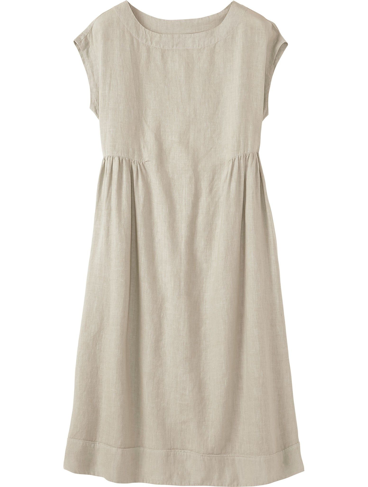 94115061560 Softly shaped midi dress with grown-on cap sleeves in a supple ...