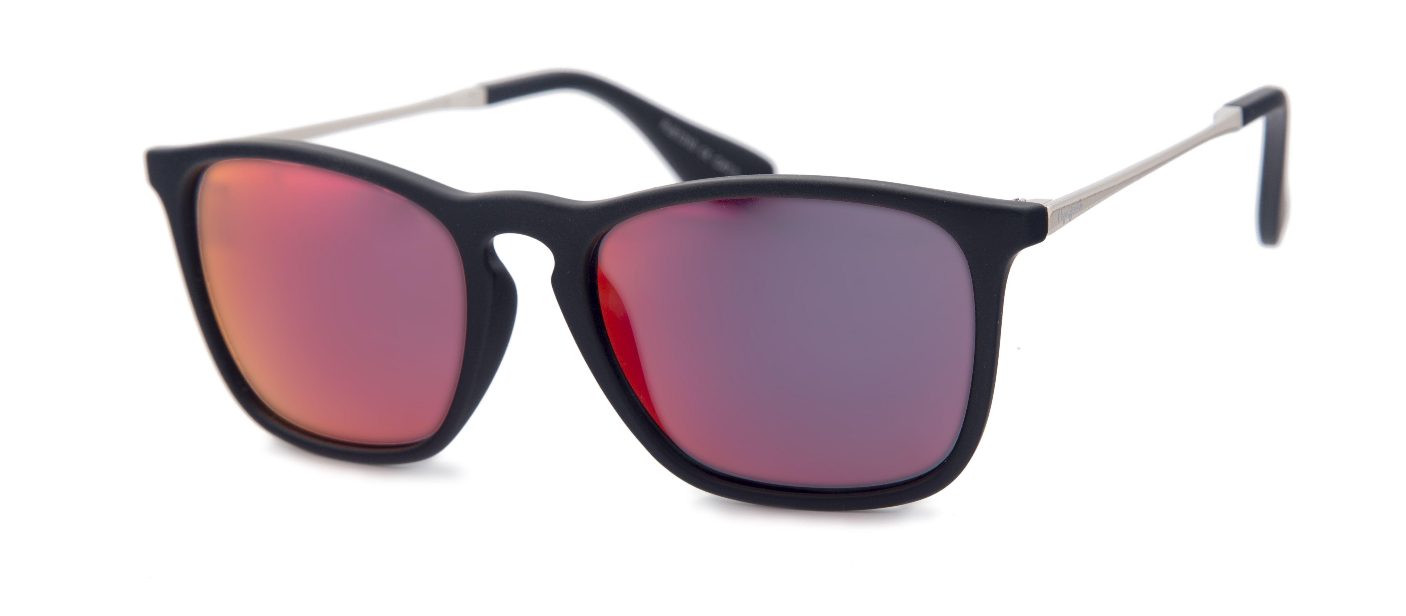1c1e811889 Gafas de sol Pepe Jeans para Opticalia. Montura de estilo retro en color  negro con cristales de espejo.