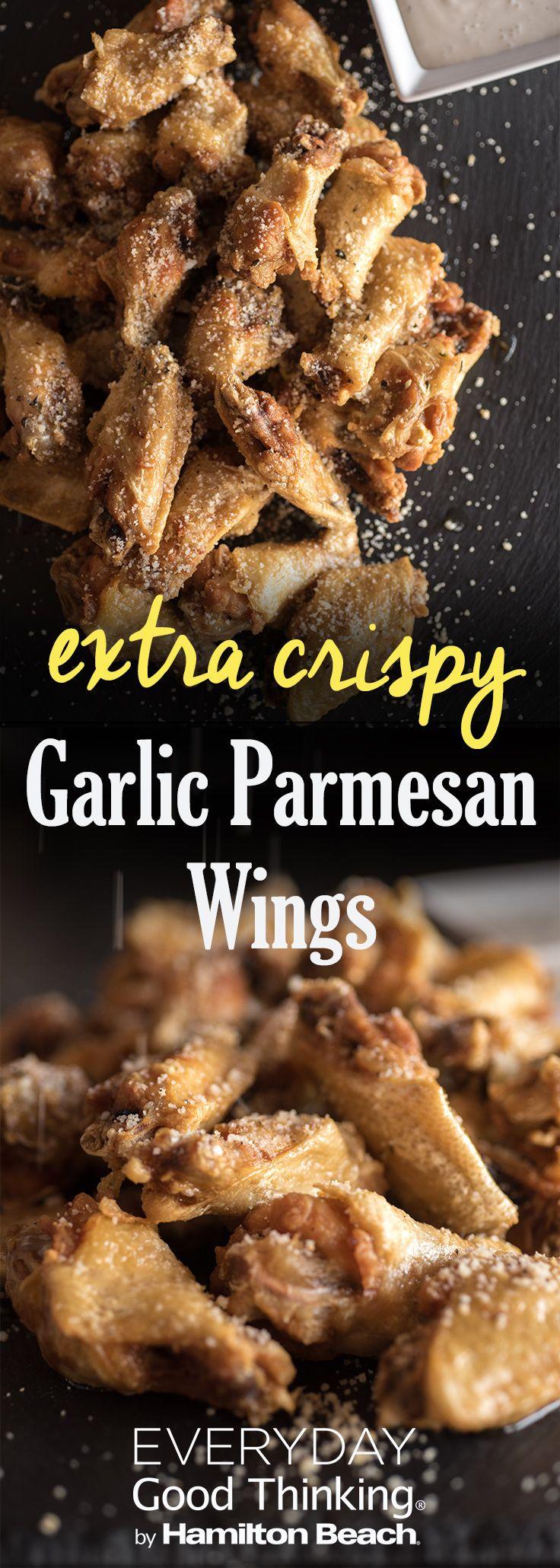 Gameday Garlic Parmesan Chicken Wings