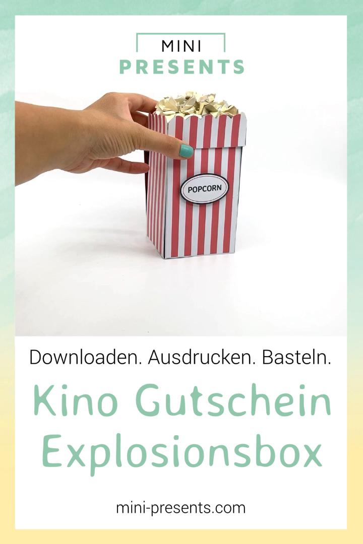 DIY Kino Gutschein als Explosionsbox basteln