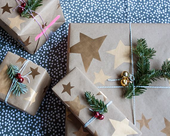Image result for gift wrapping Christmas Stars