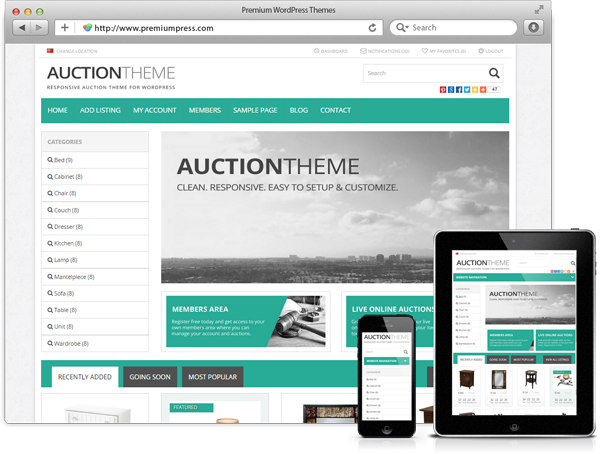 SEO Friendly, Easy to Use and Manage Auction Websites in Minutes ...
