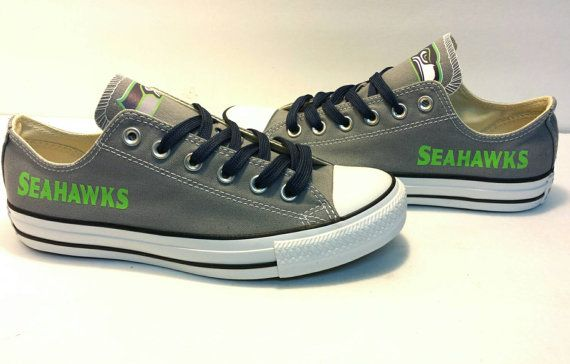 426ff9a2a30 Seattle Seahawks Women All-Star Converse Shoes by CustomQueenz  85 etsy