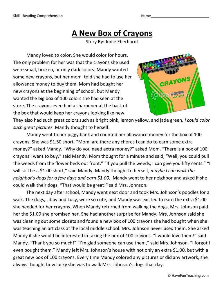 Fifth Grade Reading Comprehension Worksheets Have Fun Teaching Reading Comprehension Worksheets Reading Comprehension Comprehension Comprehension worksheets for grade 5
