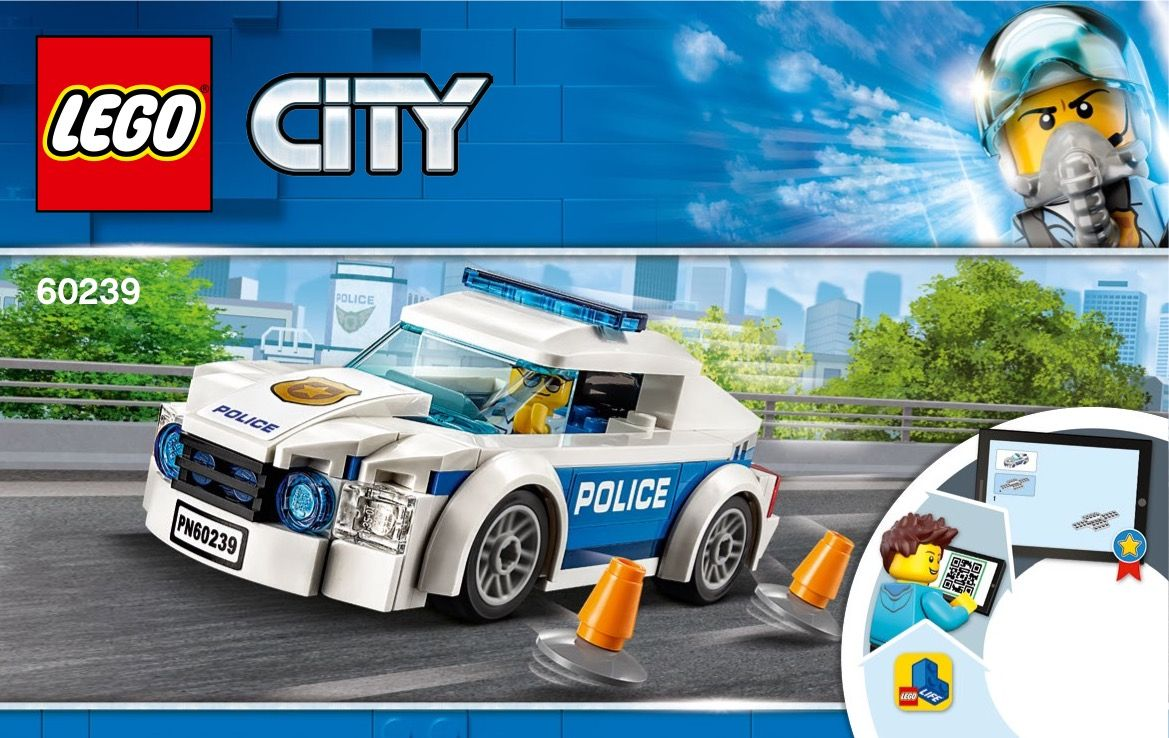 Lego 60239 Police Patrol Car Instructions Displayed Page By Page To Help You Build This Amazing Lego City Set Police Patrol Lego Police Car Lego Police
