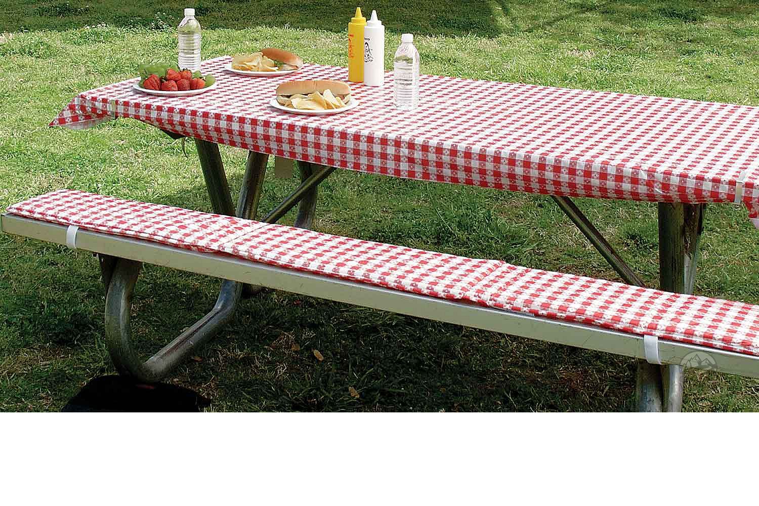 Table Cover Padded Bench Cushions Intersource Enterprises D16 243 Picnic Camping World Picnic Bench Covers Camping Supplies Picnic Table