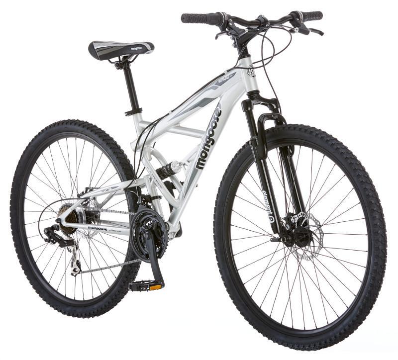 Mongoose 29 Inch Men S Impasse Dual Mountain Bike Bicycle Silver