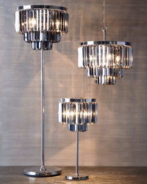 Luxe Crystal Chandelier Hanging Lamps Lighting Decor Z Gallerie Crystal Floor Lamp Floor Lamp Lighting Crystal Table Lamps