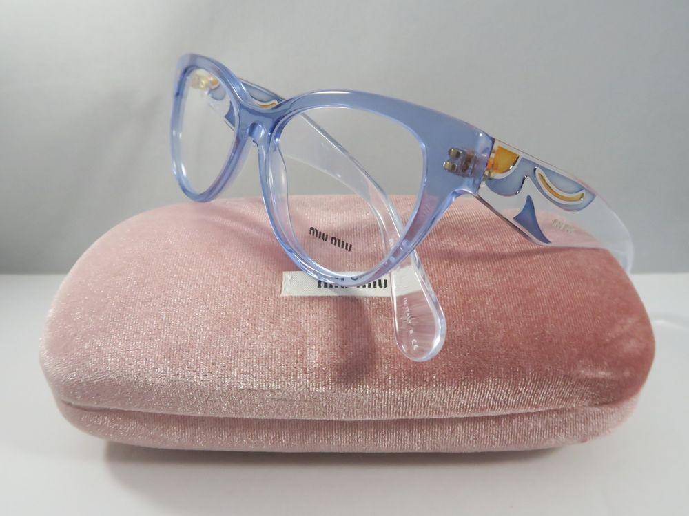 625a2a29f40b Miu Miu Women s Blue Glasses with case VMU 03N-A TII-1O1 53mm ...