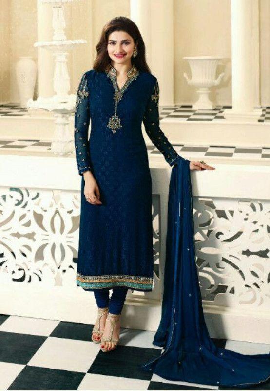 Kaseesh Prachi Magical Brasso Vol7 Indian Salwarkameez Suit 4382 Blue Dress Indian Style Saree Designs Indian Designer Outfits