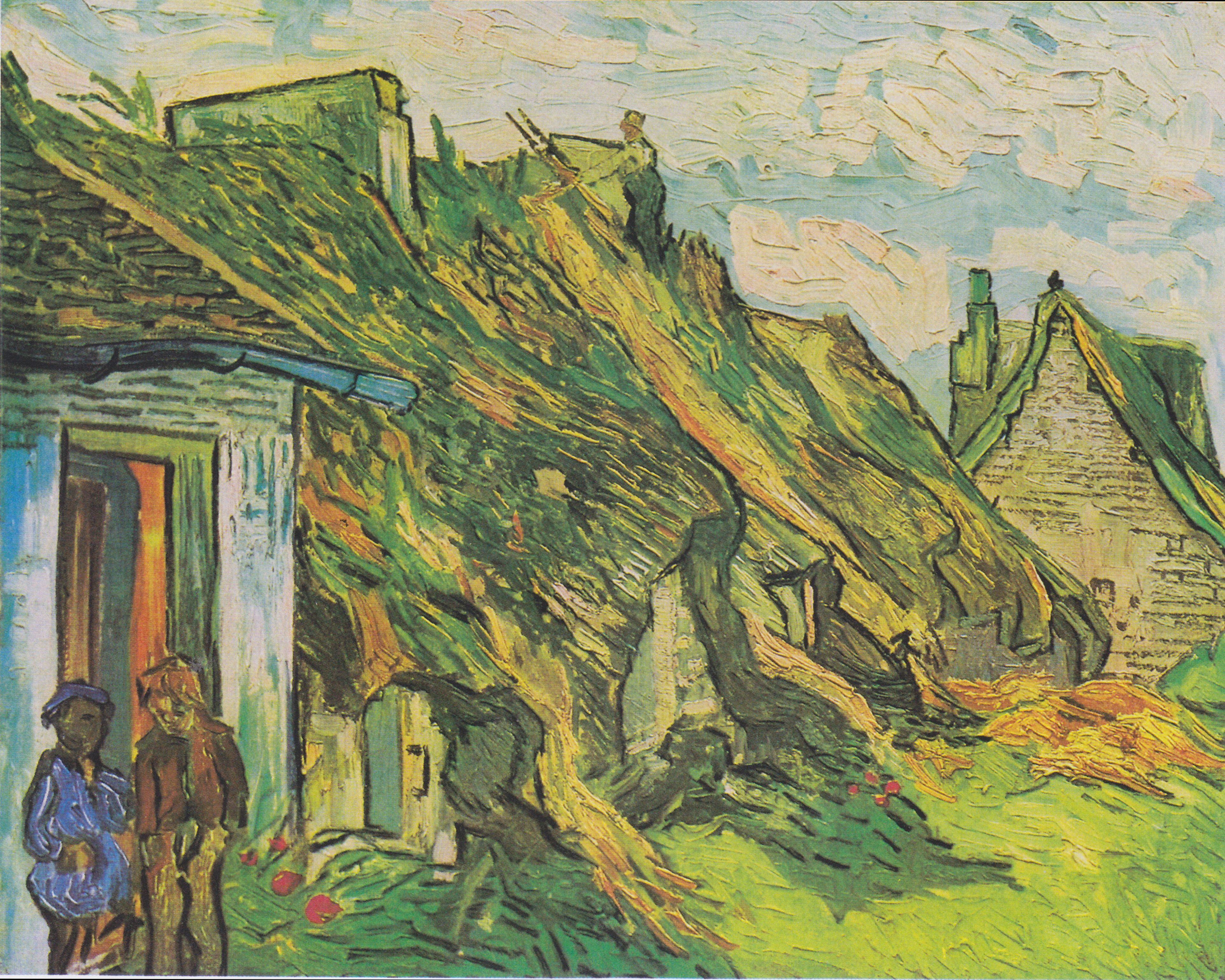Van_Gogh_-_Strohgedeckte_Hütten_in_Chaponval.jpeg (3846×3078)