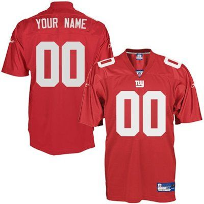 save off 1e9a7 177f6 Reebok New York Giants Authentic Customized Jersey - Red ...