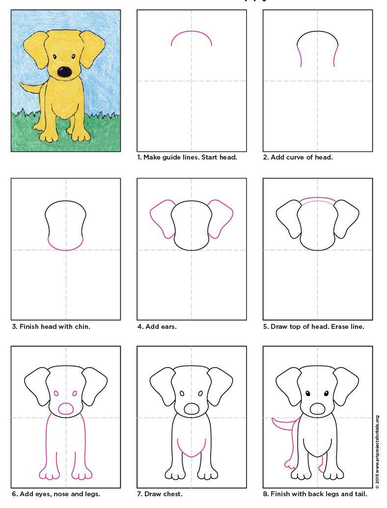 Draw A Labrador Puppy Pdf Tutorial Available #labrador #howtodraw
