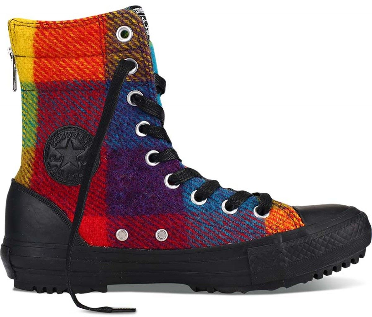 Converse Women's Chuck Taylor All Star Hi-Rise Boot Woolrich Yellow Bird/Cyan  Space