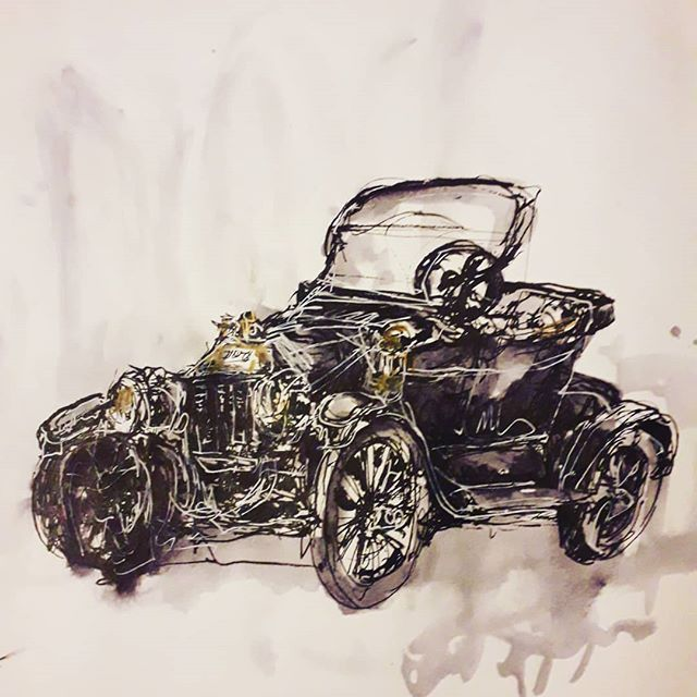 I missed sketching classic cars.heres a Ford T that I saw during @uskparis sketc…