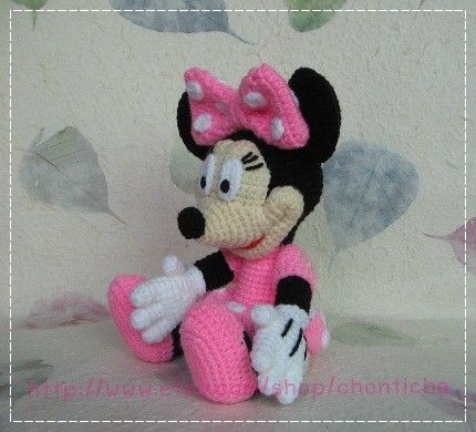 Mini Minnie Mouse 10 inches - PDF crochet pattern | Amigurumi und Häkeln
