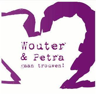 #Trouwkaartje Petra en Wouter #trouwkaartjes #trouwen #wedding #bruiloft