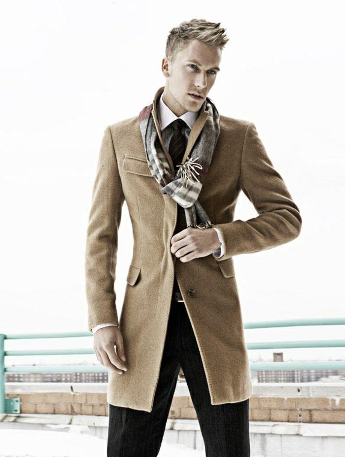 Veste couleur camel homme